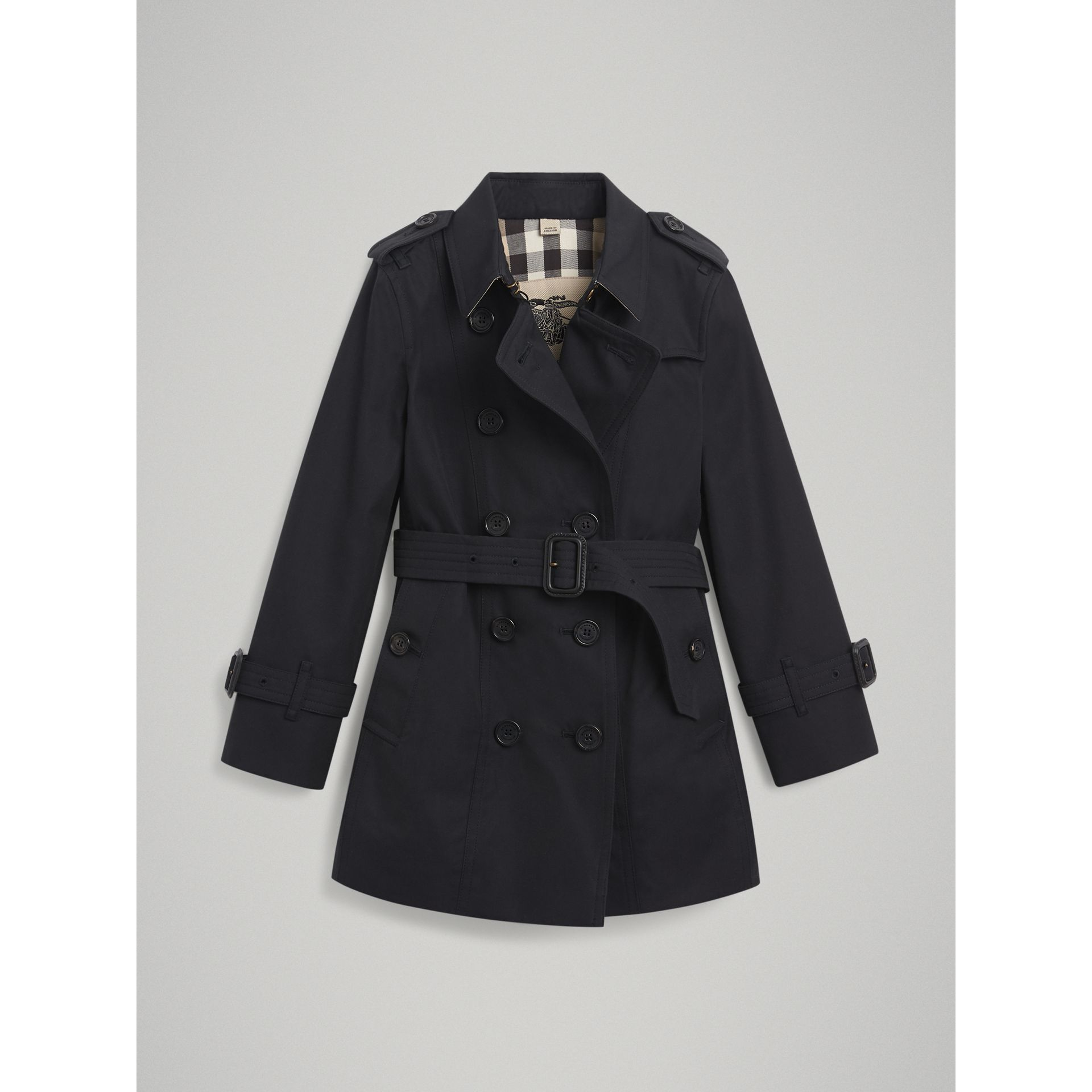 The Sandringham Trench Coat in Navy - Girl | Burberry - gallery image 3
