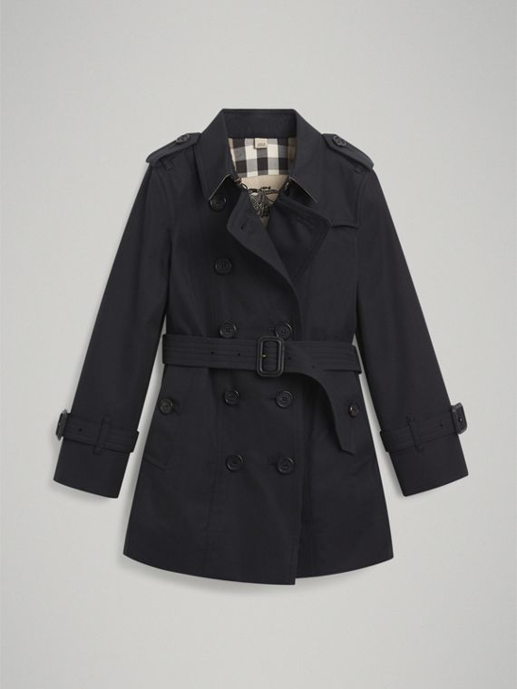 The Sandringham Trench Coat in Navy - Girl | Burberry Canada - cell image 3