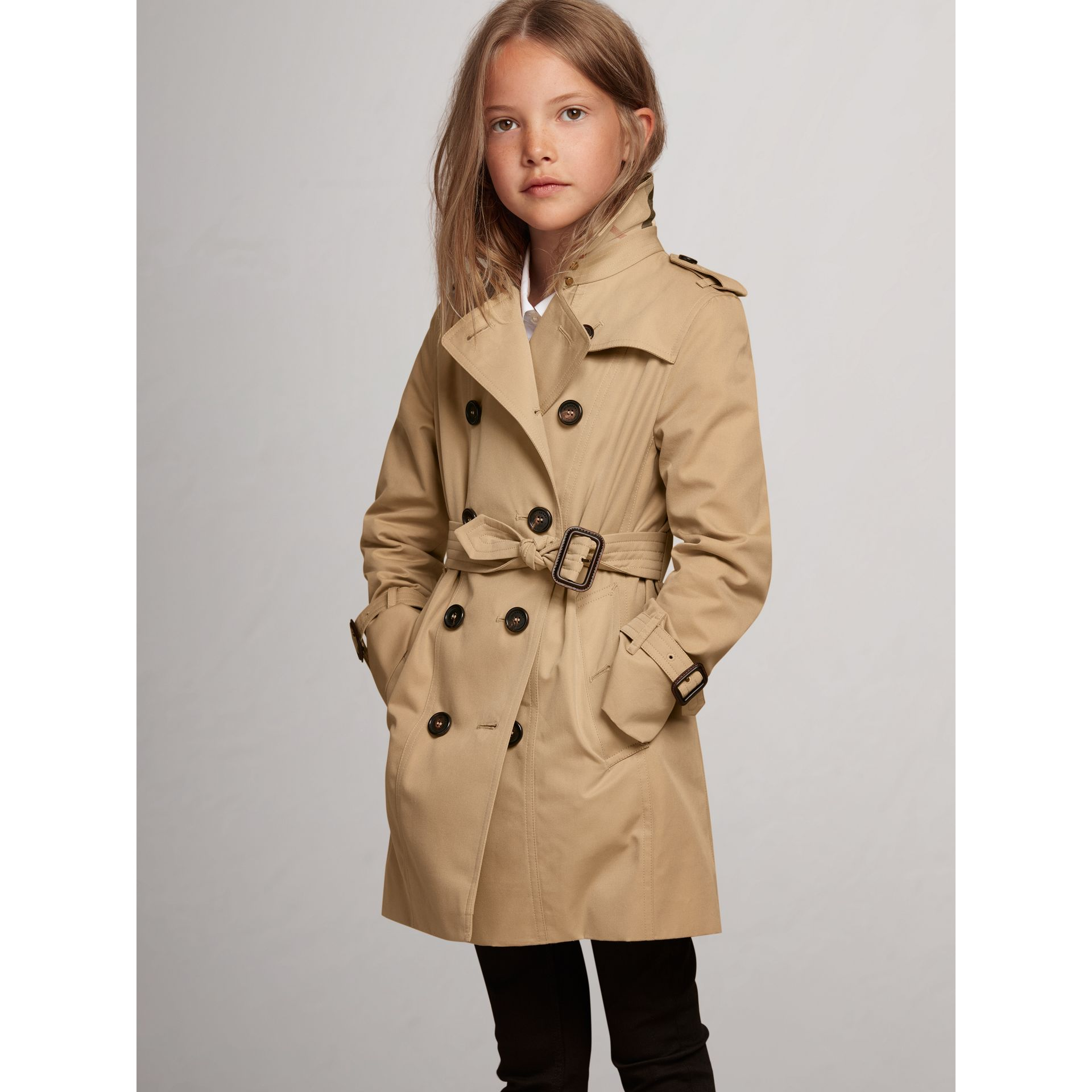 Trench The Sandringham (Miel) - Fille | Burberry - photo de la galerie 0