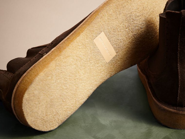 Peat brown Washed-suede Chelsea Boots with Crepe Soles - cell image 4