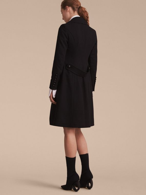 Wool Blend Double-breasted Coat in Black - Women | Burberry Canada - cell image 2