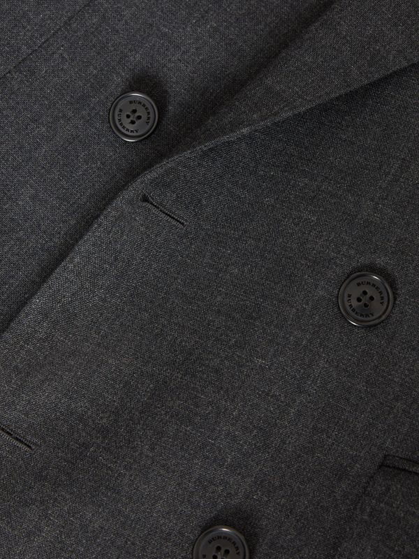 English Fit Wool Double-breasted Jacket in Dark Grey | Burberry - cell image 2