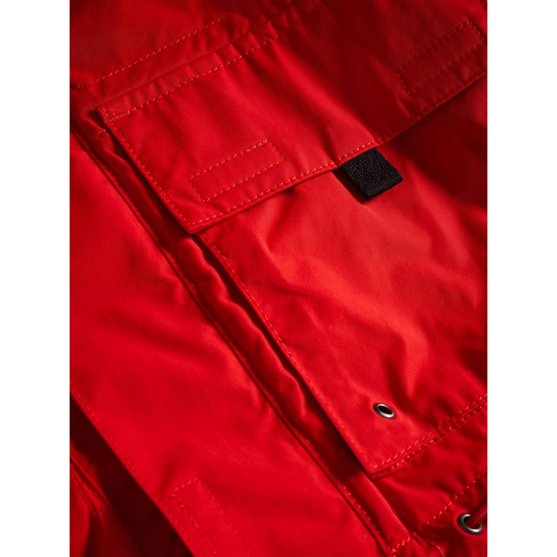 Hooded Shape-memory Taffeta Field Jacket in Bright Orange Red - Boy | Burberry - gallery image 1