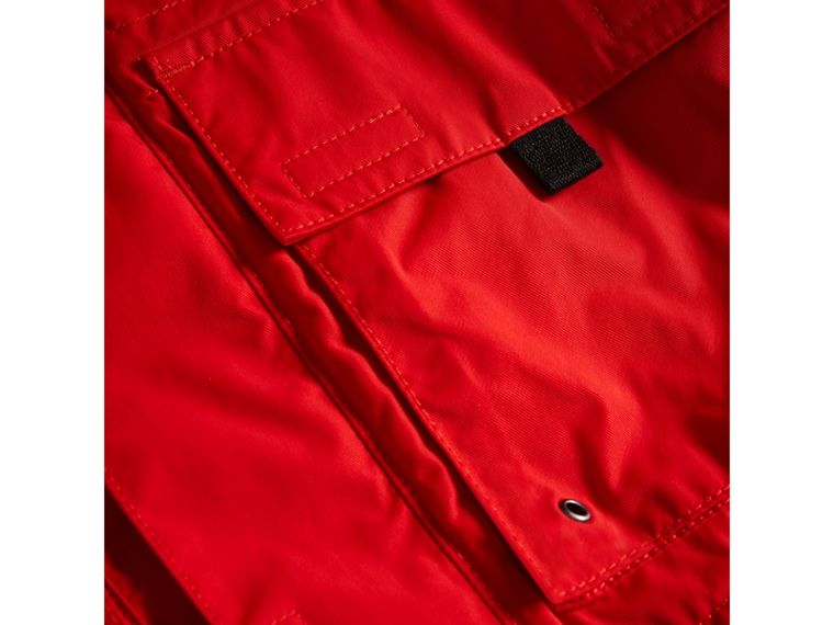 Hooded Shape-memory Taffeta Field Jacket in Bright Orange Red - Boy | Burberry - cell image 1