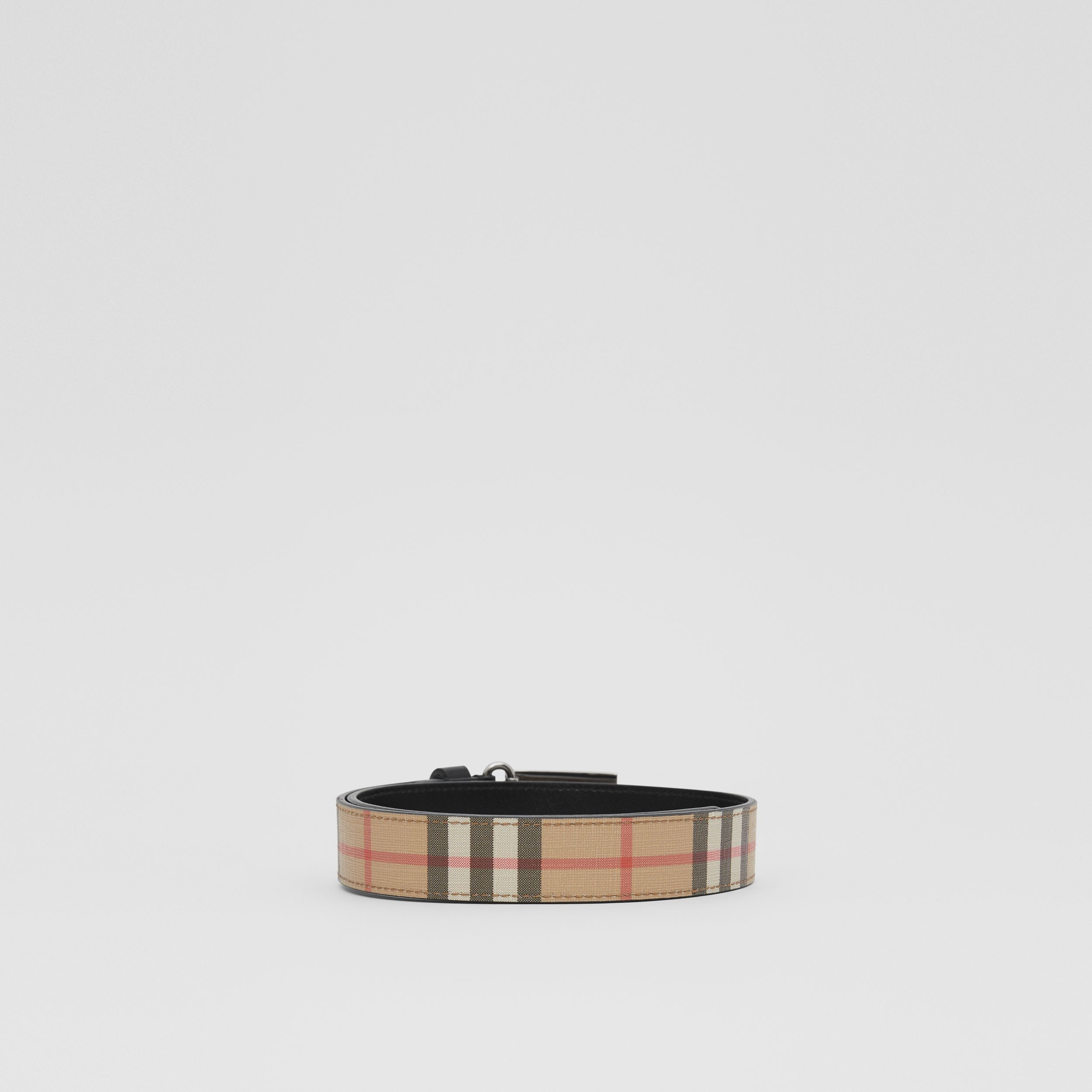Plaque Buckle Vintage Check E-canvas Belt in Archive Beige - Children | Burberry - 4
