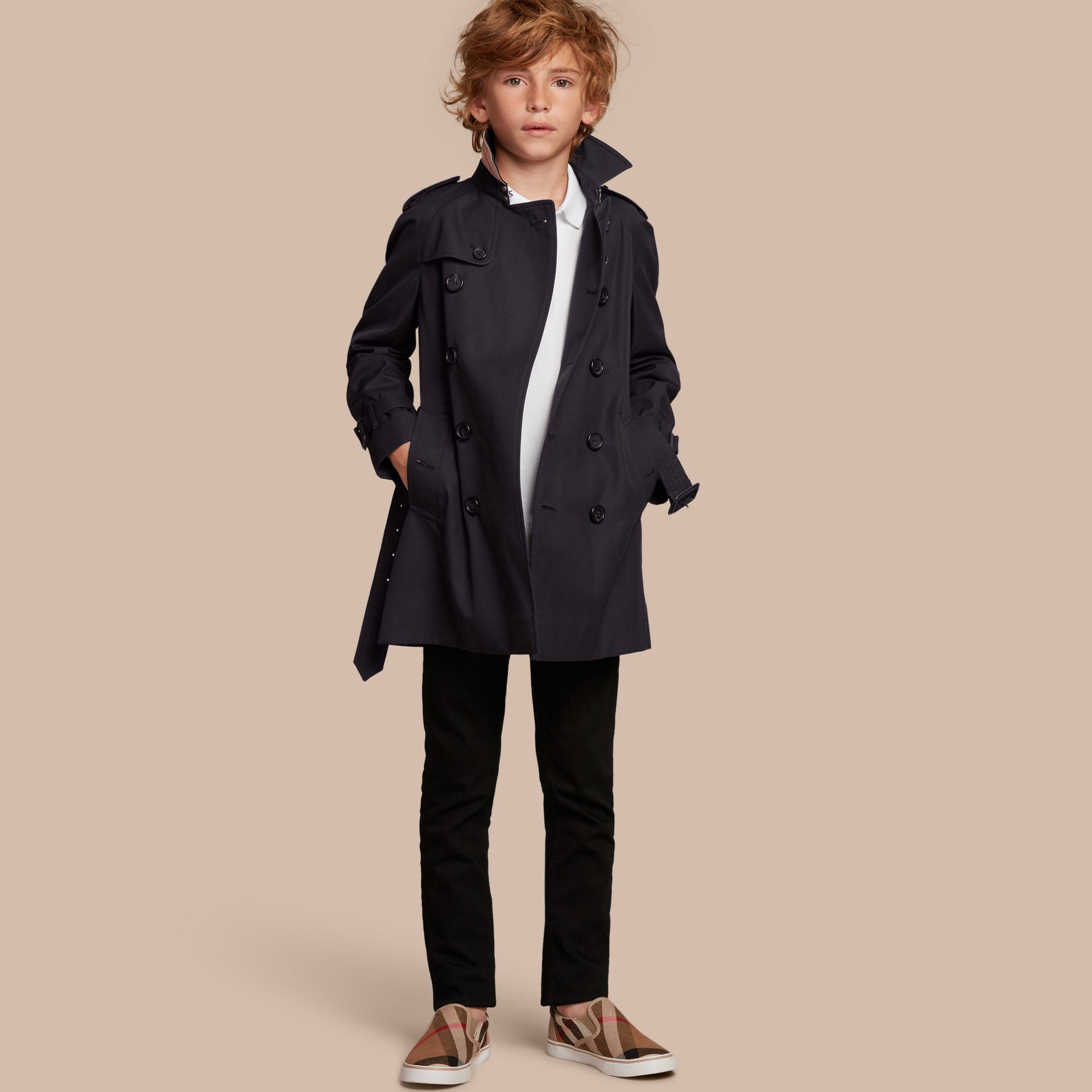 Navy The Wiltshire - Trench coat Heritage Navy - immagine della galleria 1