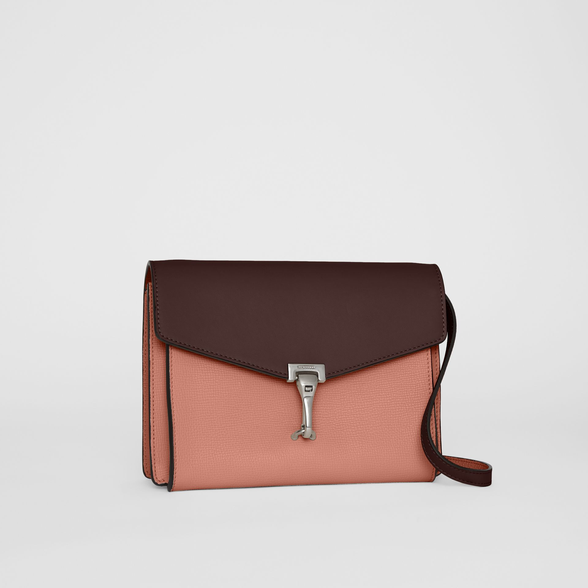 Two-tone Leather Crossbody Bag in Dusty Rose/deep Claret - Women | Burberry - gallery image 5