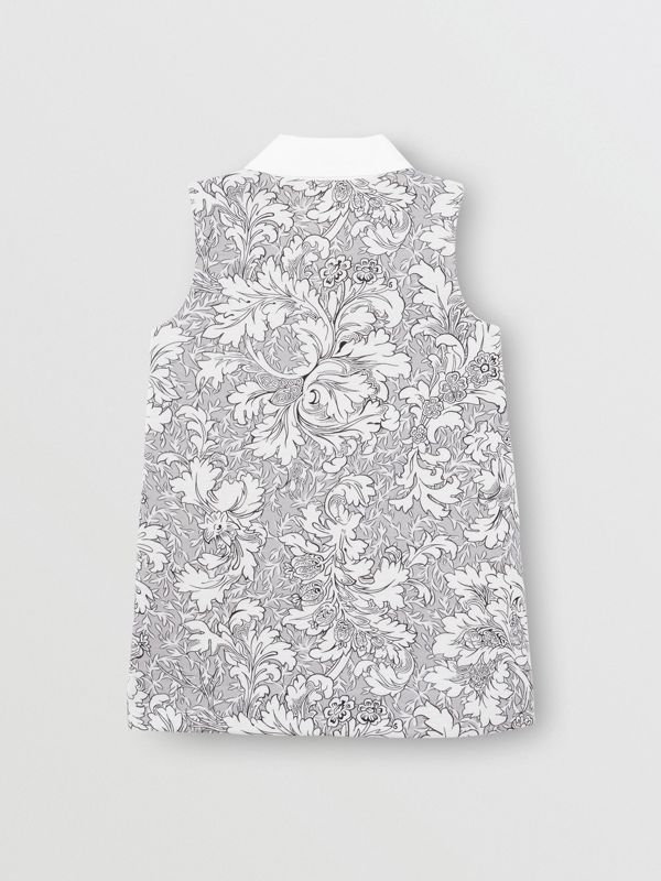 Floral Print Shift Dress in Mid Grey Melange | Burberry Singapore - cell image 3