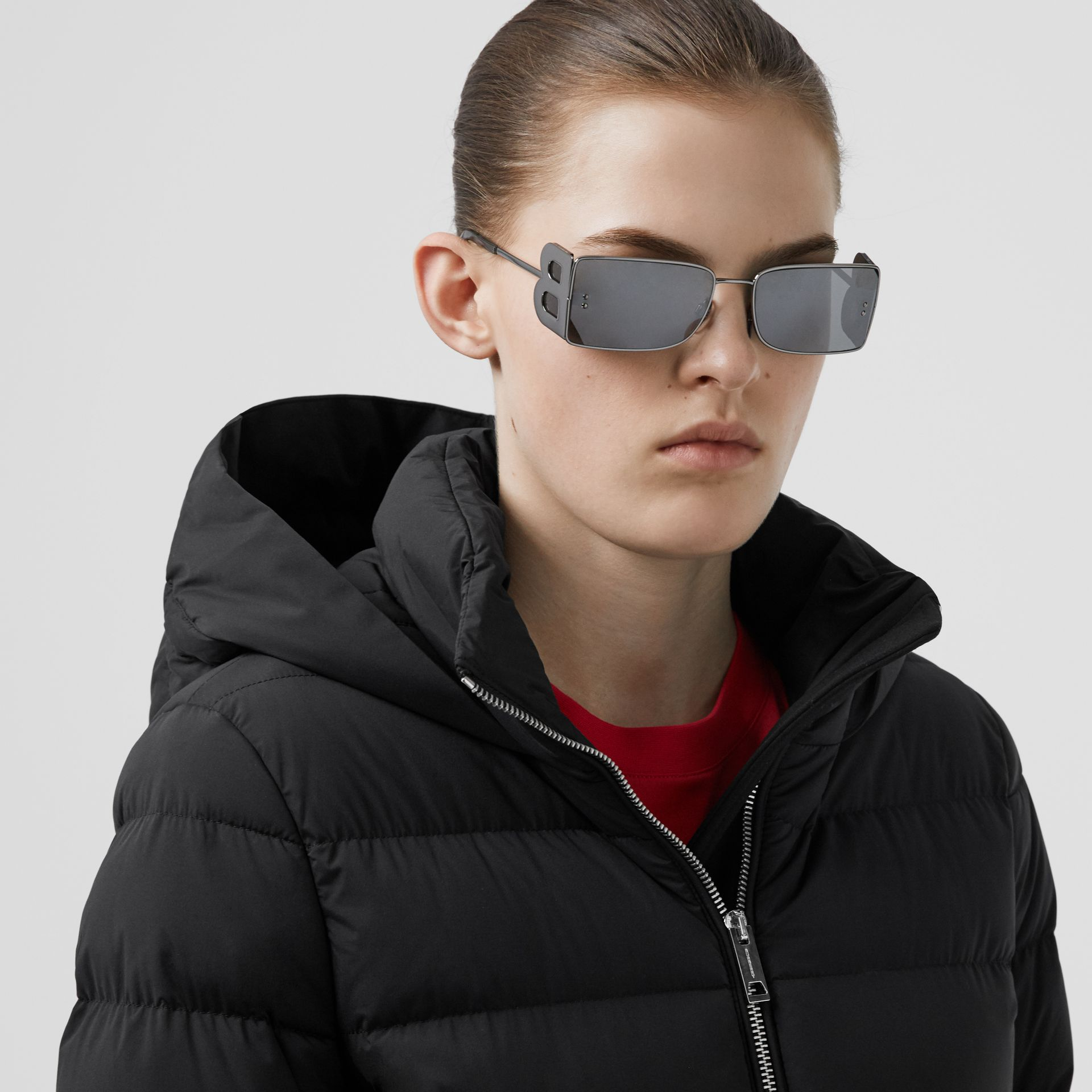 Hooded Puffer Coat in Black - Women   Burberry United States - gallery image 1