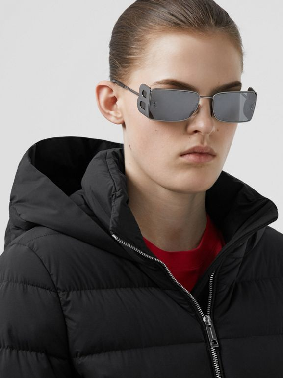 Hooded Puffer Coat in Black - Women   Burberry United States - cell image 1