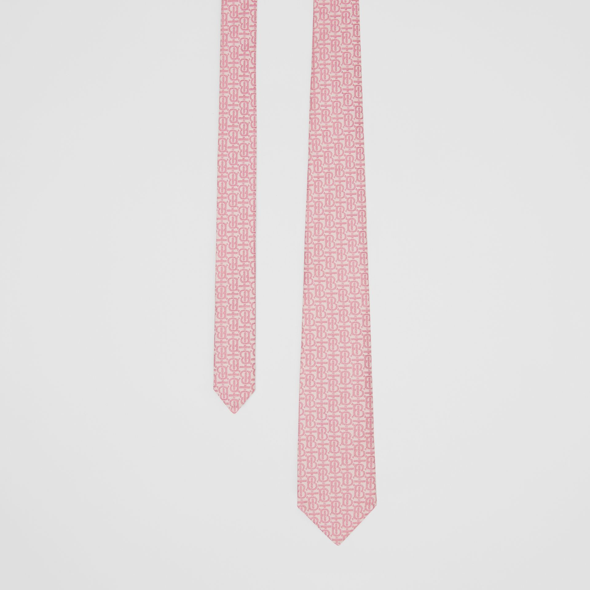 Classic Cut Monogram Silk Jacquard Tie in Alabaster Pink - Men | Burberry - gallery image 0