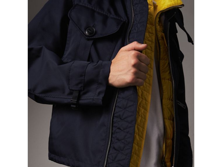 Technical Cropped Parka with Down-filled Warmer in Navy - Men | Burberry - cell image 4