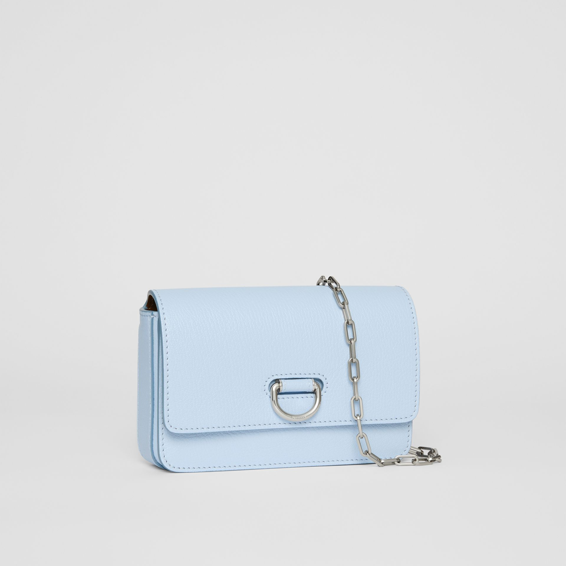 The Mini Leather D-ring Bag in Pale Blue - Women | Burberry - gallery image 6