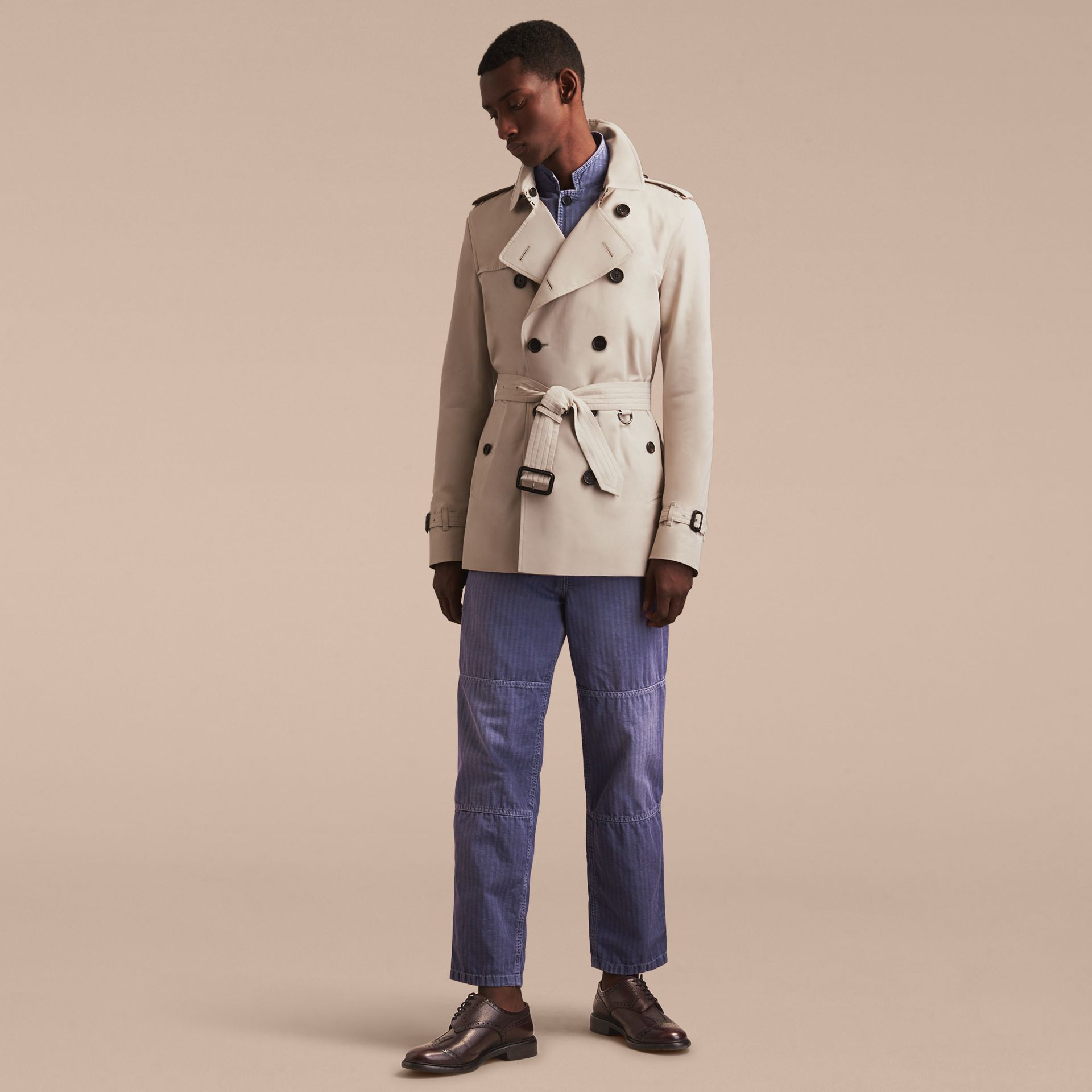Stone The Kensington – Short Heritage Trench Coat Stone - gallery image 9