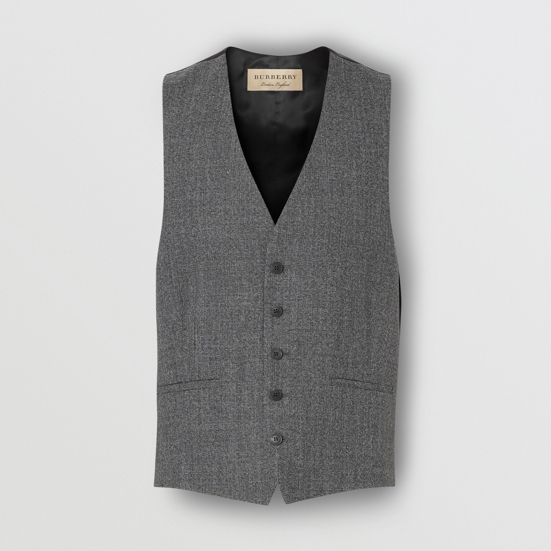 Classic Fit Melange Wool Three-piece Suit in Charcoal - Men | Burberry - gallery image 8