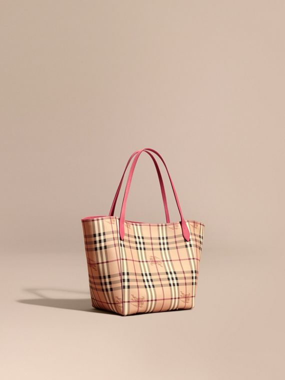 Petit Sac The Canter avec motif Haymarket check Rose Prune