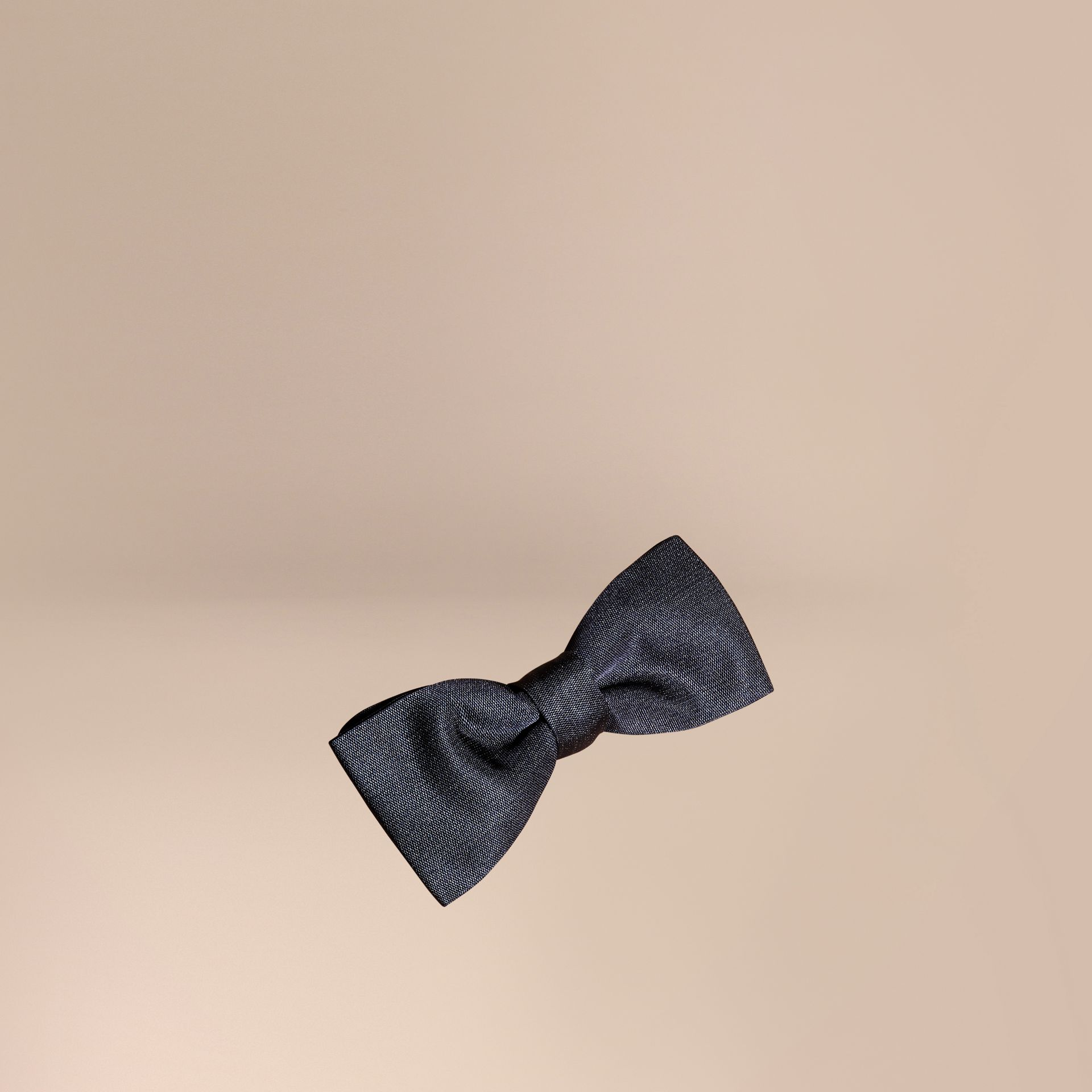 Silk Bow Tie in Midnight - Men | Burberry - gallery image 1