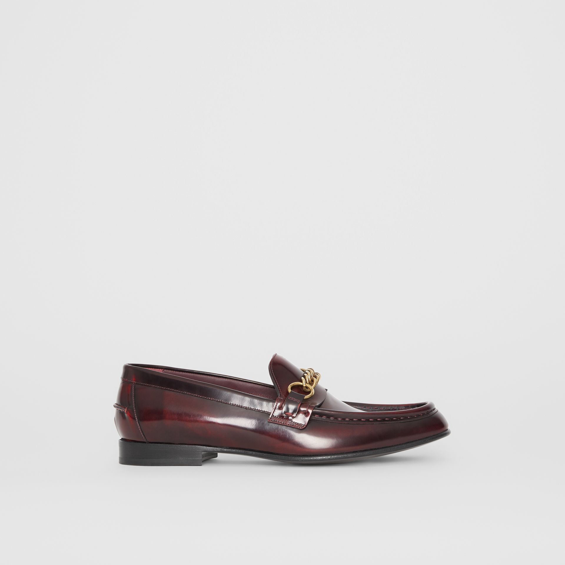 The Leather Link Loafer in Bordeaux - Men | Burberry - gallery image 4