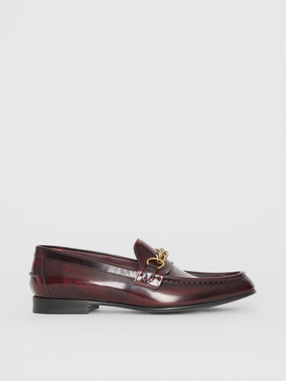 The Leather Link Loafer in Bordeaux