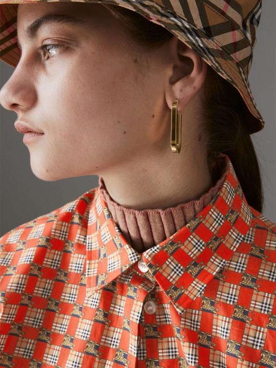 Pendants d'oreilles à maillons plaqués or et palladium (Clair/palladio) - Femme   Burberry Canada - cell image 3