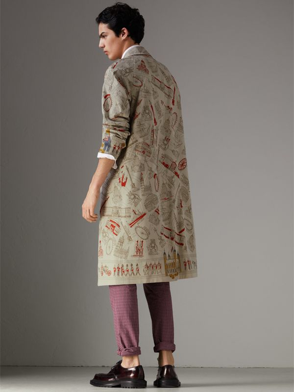London Sketch Print Car Coat in Stone - Men | Burberry Canada - cell image 2