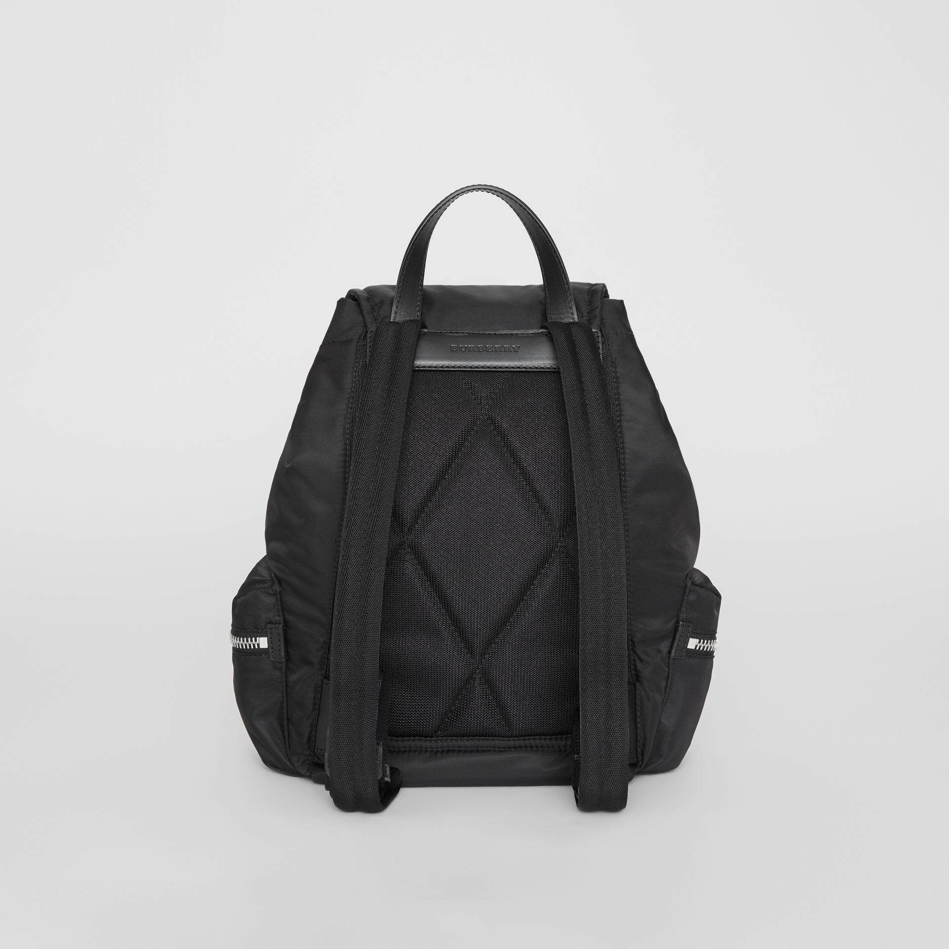 The Medium Rucksack in Nylon and Leather in Black - Women | Burberry - gallery image 7