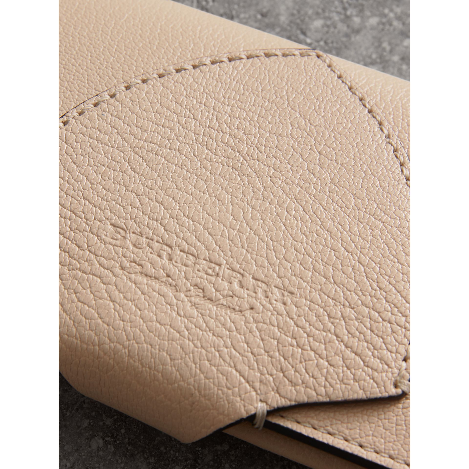 Equestrian Shield Two-tone Leather Continental Wallet in Stone - Women | Burberry United Kingdom - gallery image 1