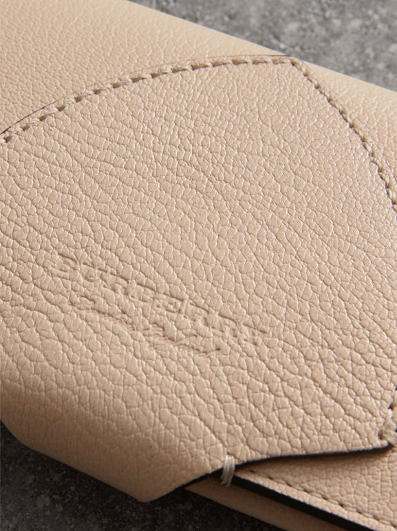 Equestrian Shield Two-tone Leather Continental Wallet in Stone - Women | Burberry United Kingdom - cell image 1