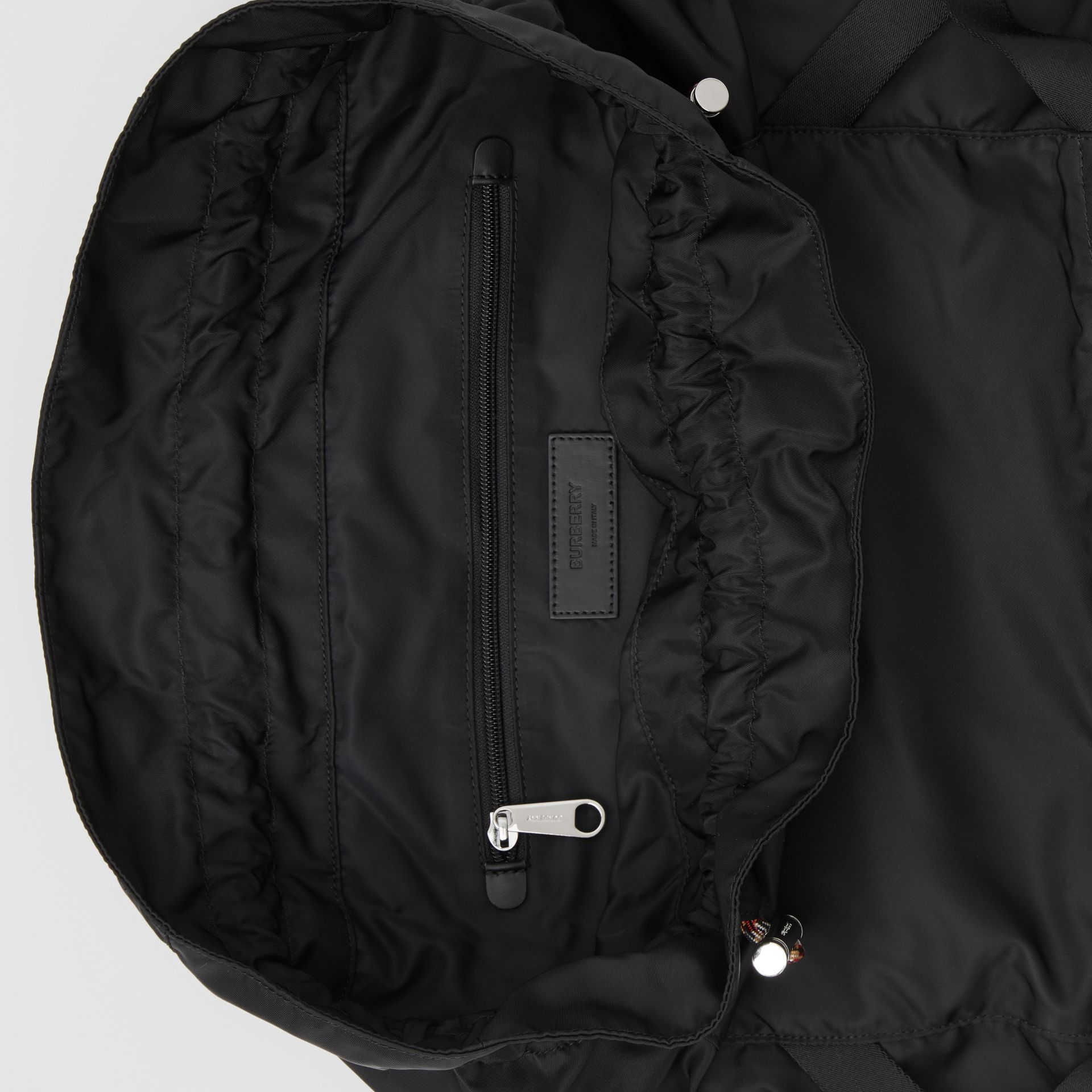 Logo Detail Nylon Drawcord Backpack in Black - Men | Burberry - gallery image 4