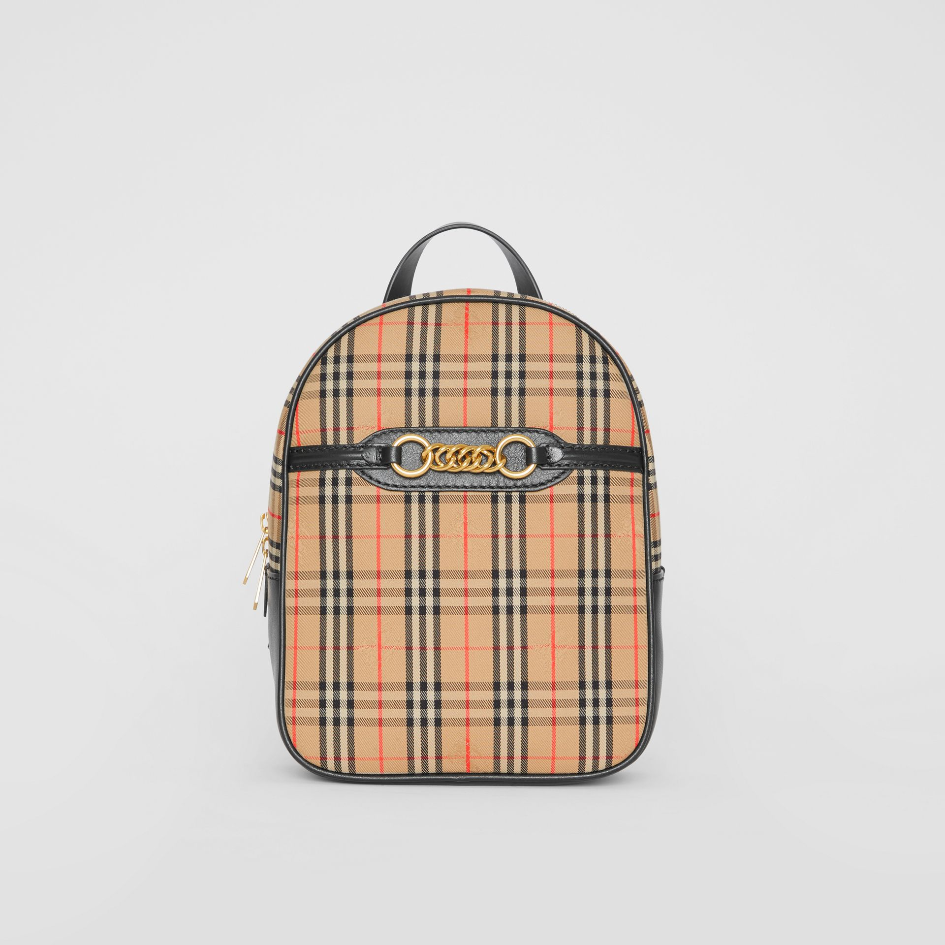 The 1983 Check Link Backpack in Black - Women | Burberry - gallery image 0