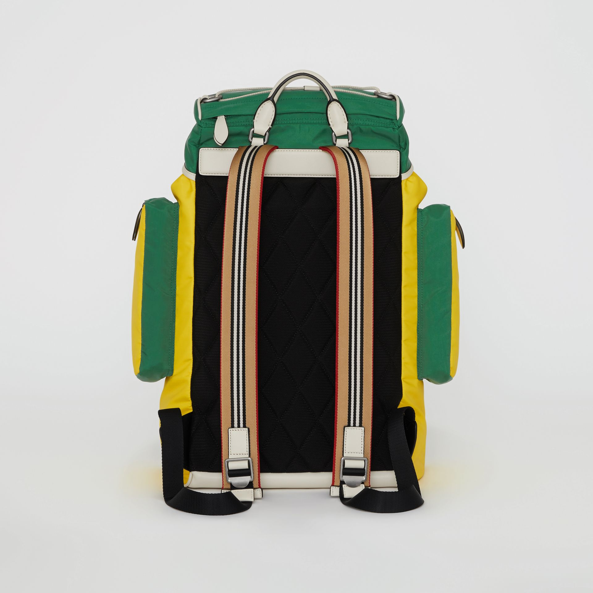 Tri-tone Nylon and Leather Backpack in Pine Green - Men | Burberry - gallery image 7
