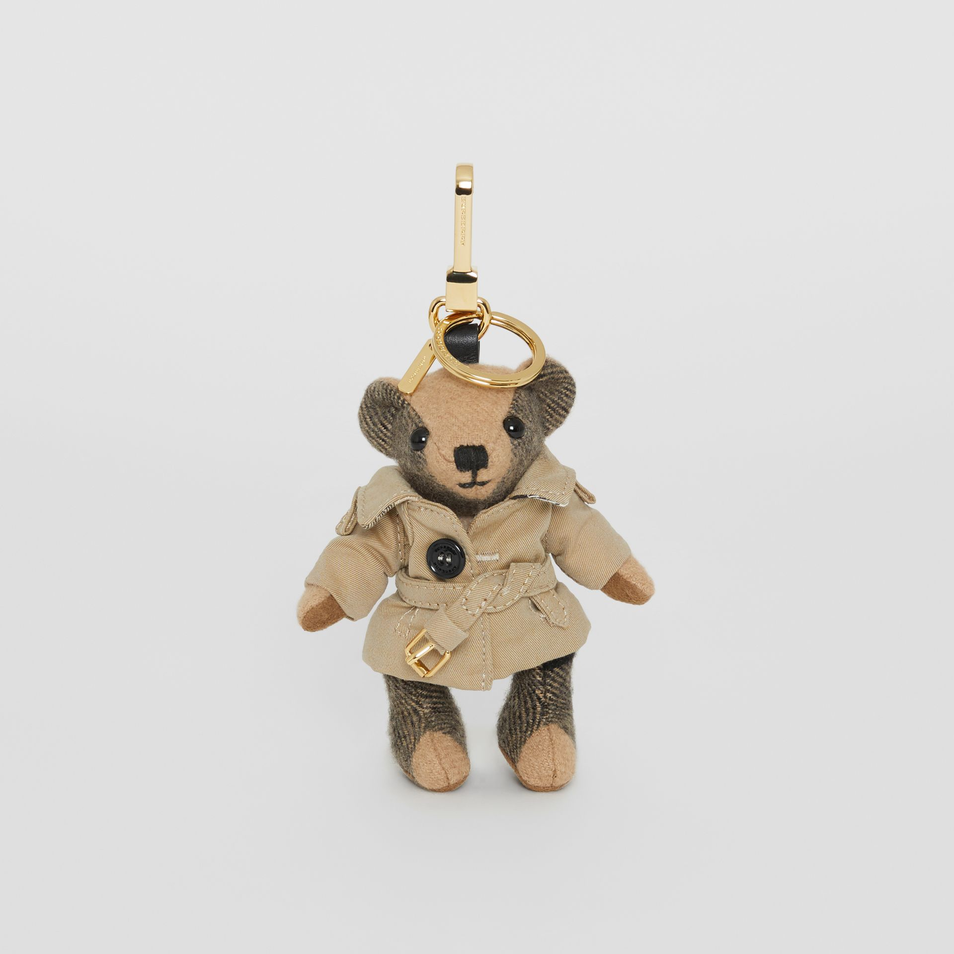 Thomas Bear Charm in Trench Coat in Camel | Burberry Singapore - gallery image 2