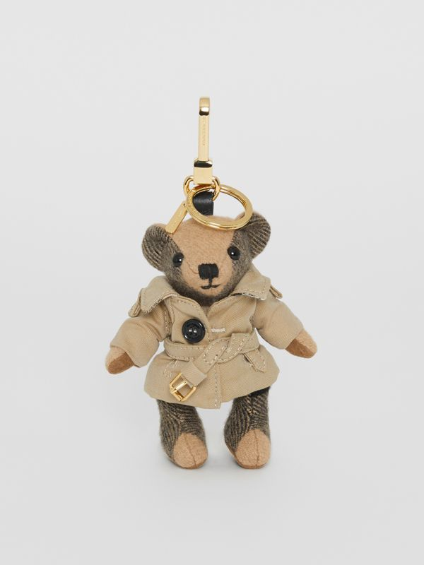 Thomas Bear Charm in Trench Coat in Camel | Burberry Singapore - cell image 2