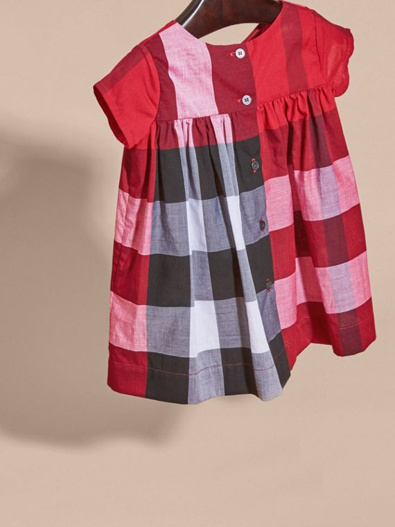 Parade red Check Cotton Dress Parade Red - cell image 3
