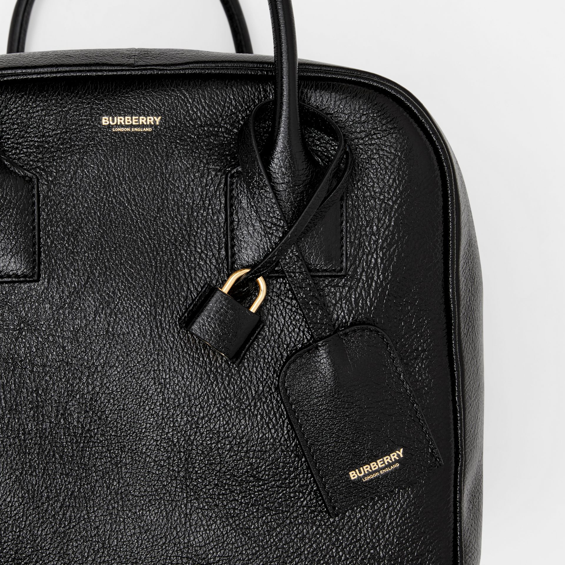 Medium Lambskin Cube Bag in Black - Women | Burberry Singapore - gallery image 8