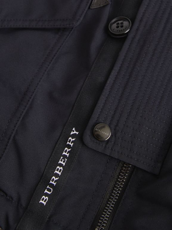 Detachable Hood Down-filled Parka Coat in Navy | Burberry - cell image 1