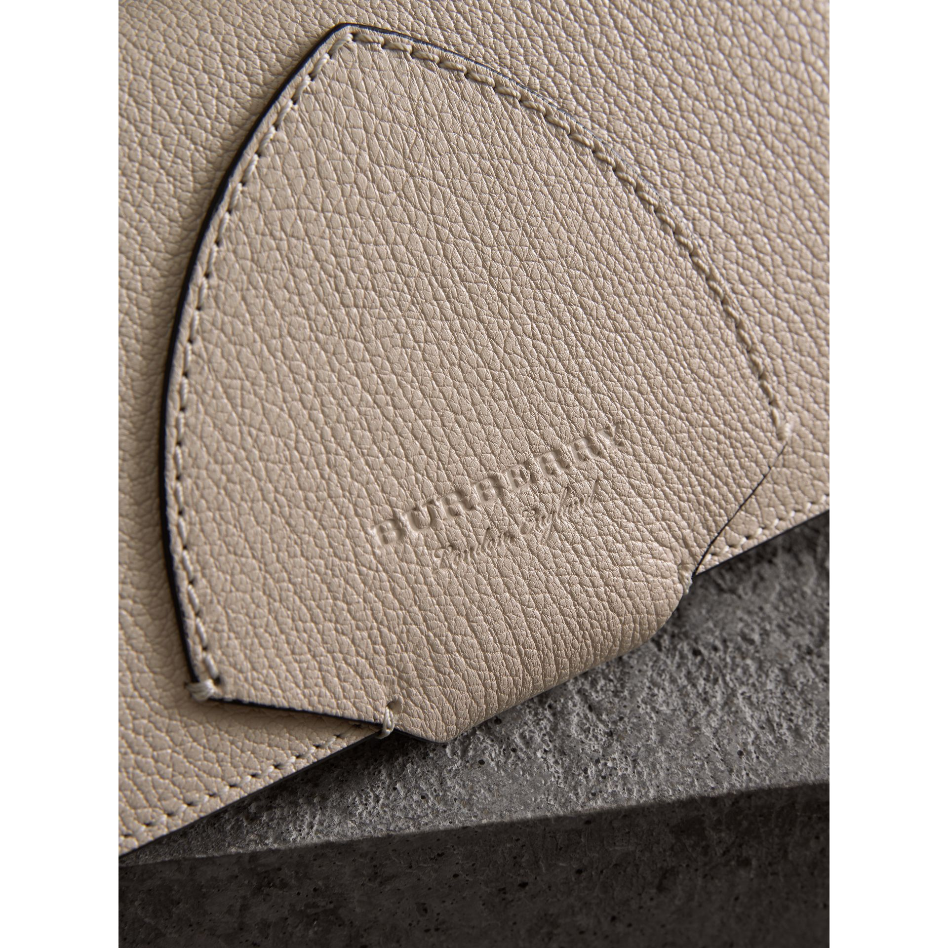 Equestrian Shield Two-tone Leather Continental Wallet in Stone - Women | Burberry Canada - gallery image 1