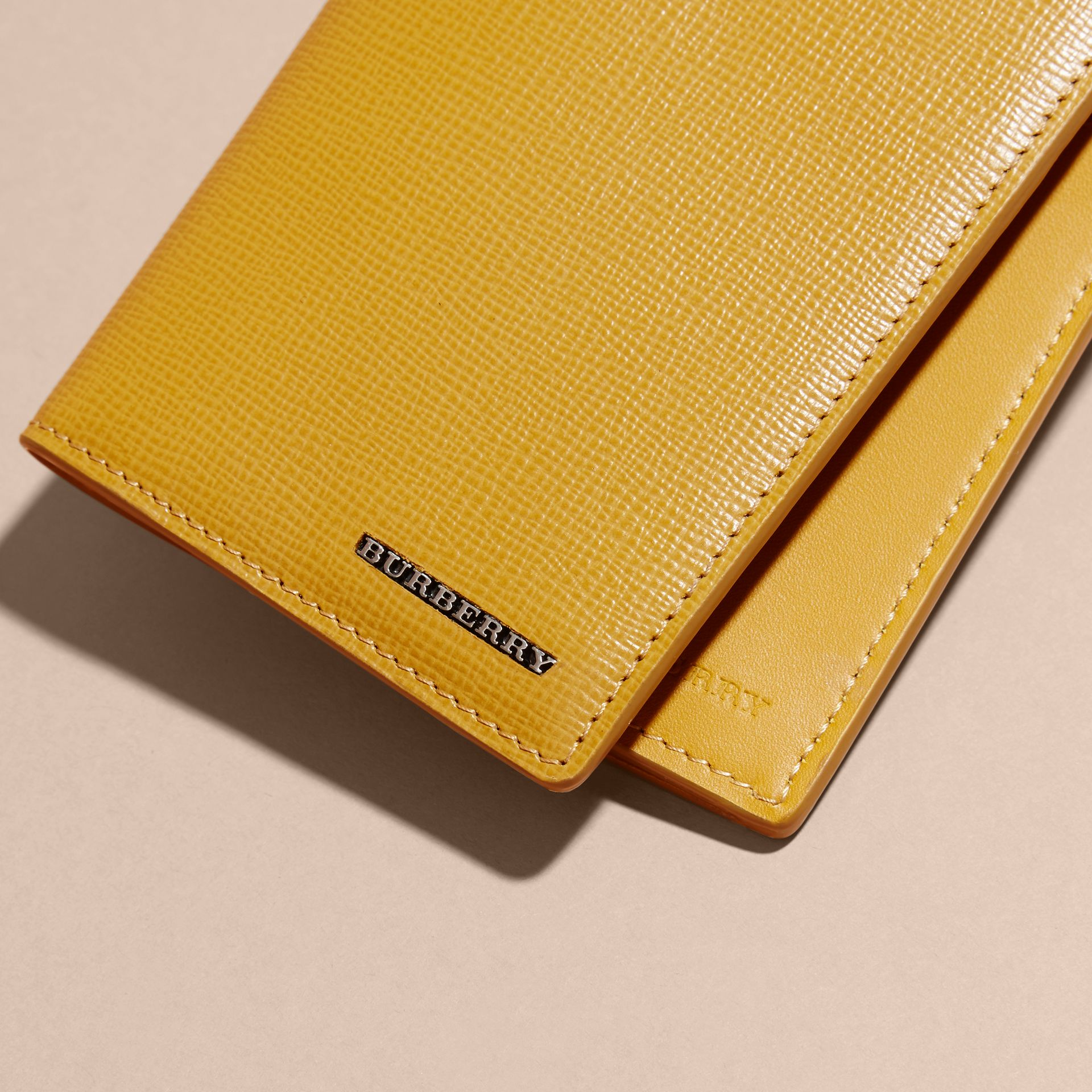 London Leather Continental Wallet in Larch Yellow - gallery image 2
