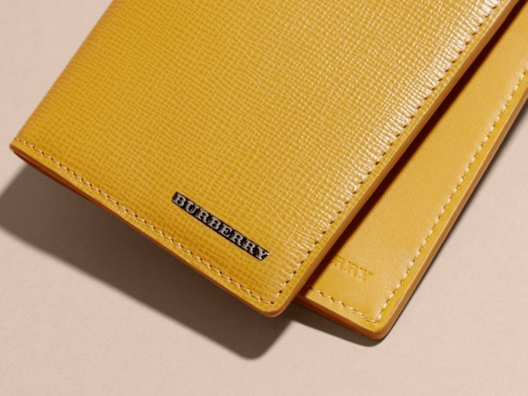 London Leather Continental Wallet in Larch Yellow - cell image 1