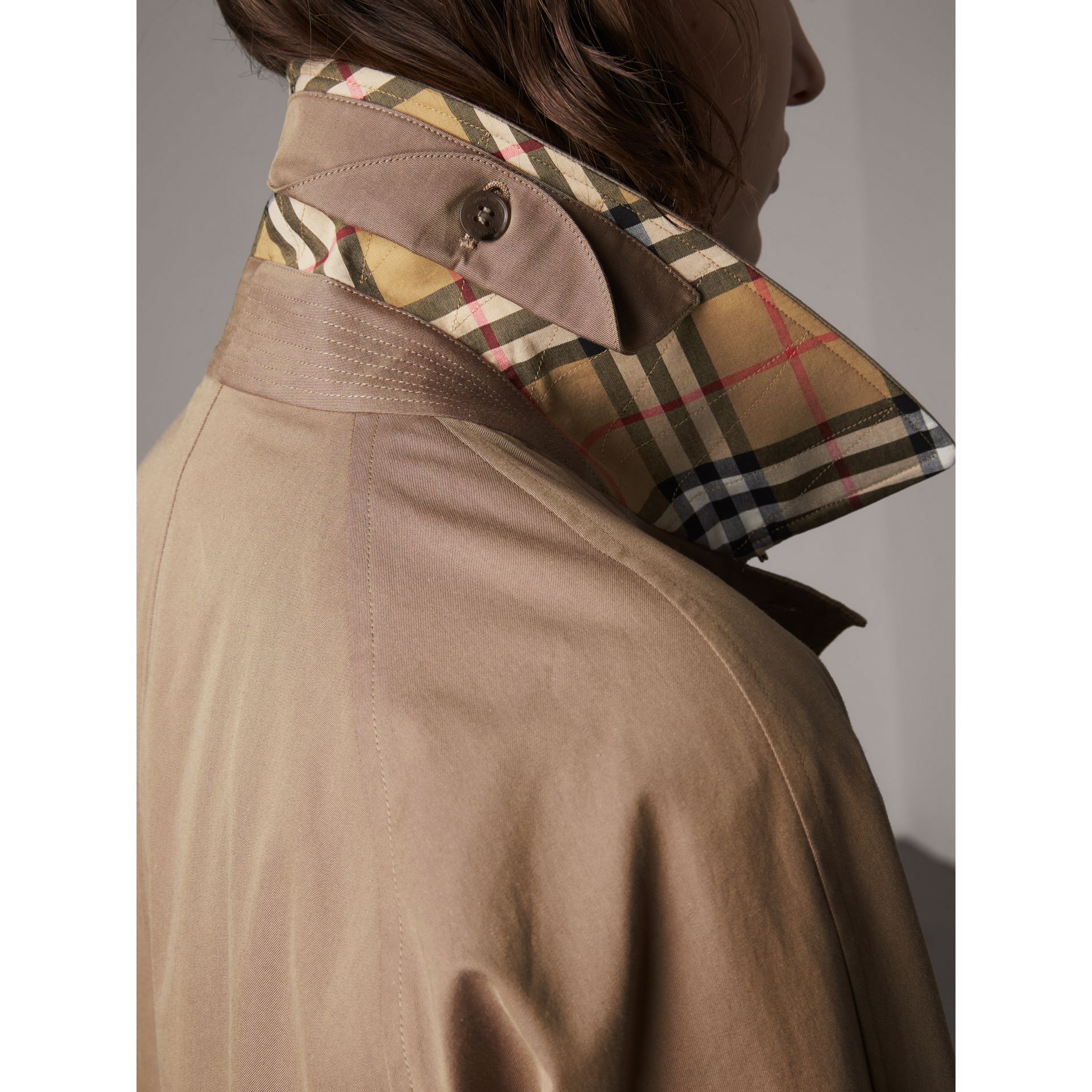 The Camden Car Coat in Taupe Brown - Women | Burberry - gallery image 1