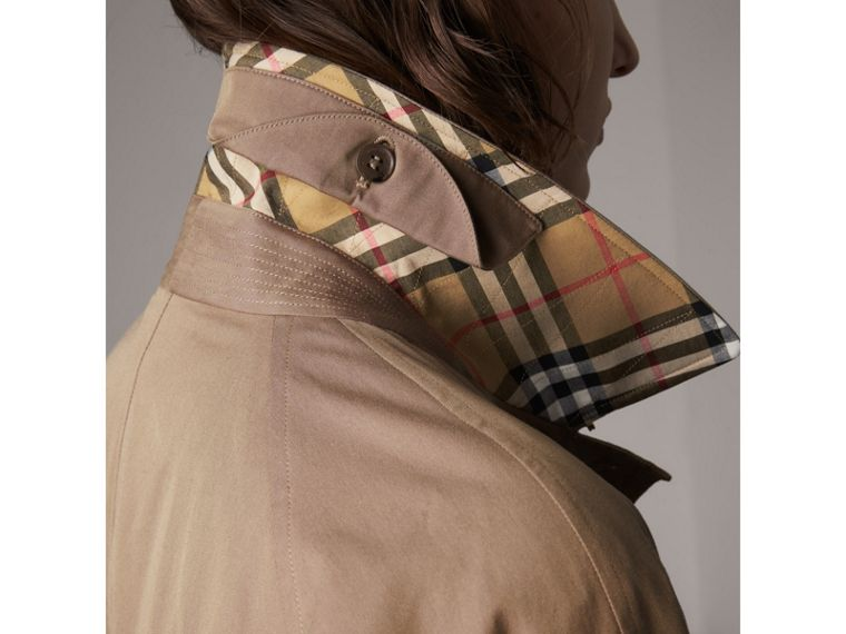 The Camden Car Coat in Taupe Brown - Women | Burberry - cell image 1