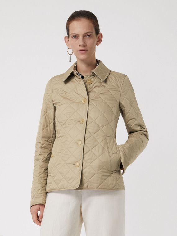 Diamond Quilted Jacket in Canvas