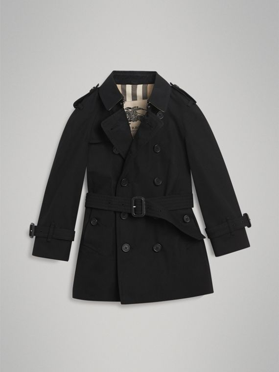 The Wiltshire Trench Coat in Black - Boy | Burberry Singapore - cell image 3