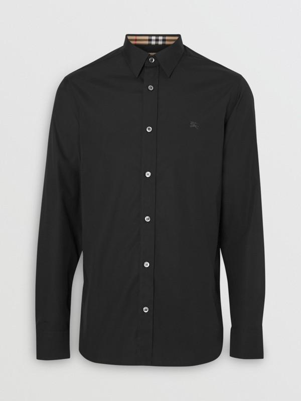 Merino Wool Half-zip Sweater in Black - Men | Burberry - cell image 3