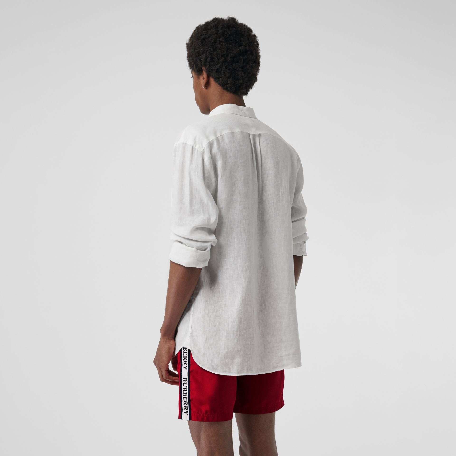Short de bain avec cordon de serrage (Rouge Parade) - Homme | Burberry - photo de la galerie 1