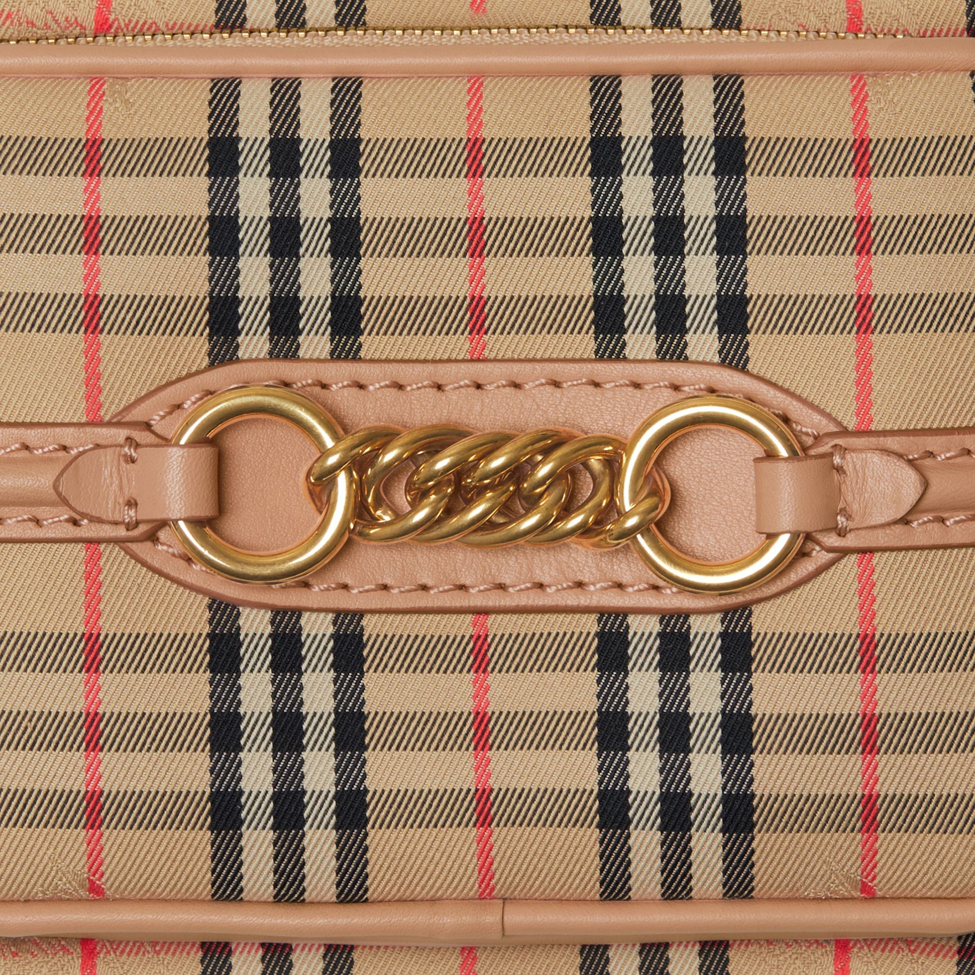 The 1983 Check Link Camera Bag in Peach - Women | Burberry - gallery image 1