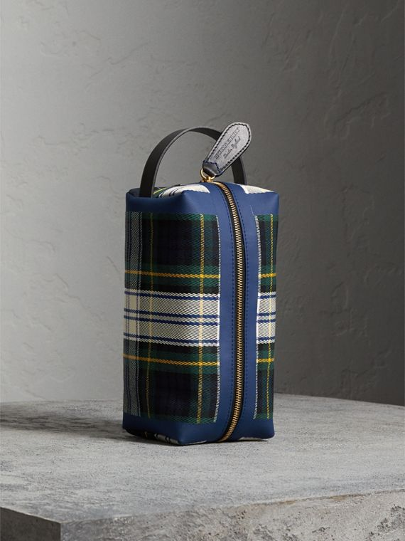 Beauty case in cotone con motivo tartan (Calcare)