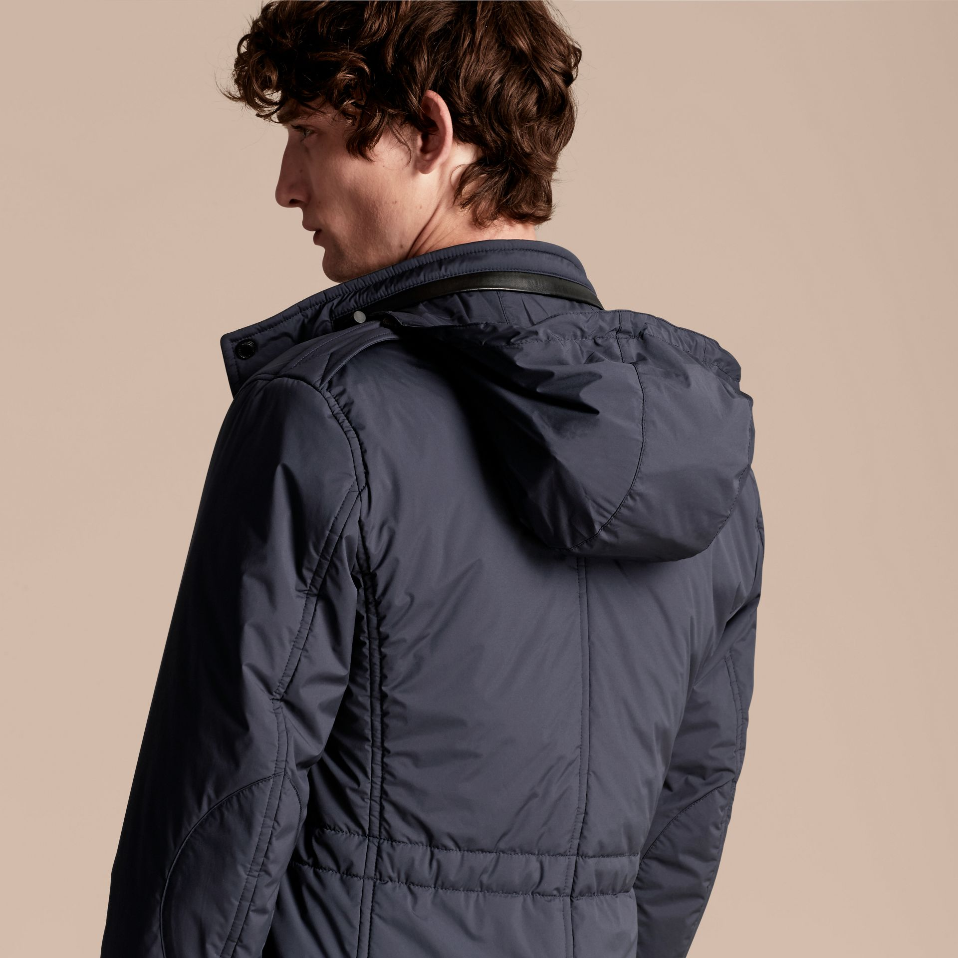 Navy Lightweight Field Jacket with Detachable Gilet - gallery image 7