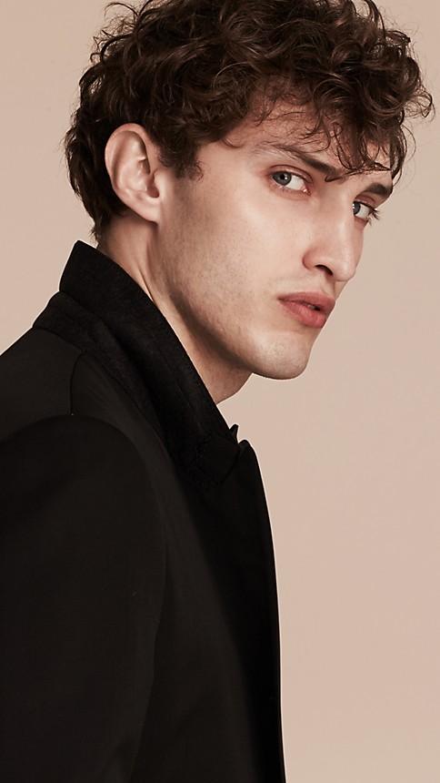 Black Satin Lapel Tuxedo Jacket - Image 4