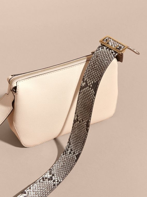 Limestone Python and Leather Crossbody Bag - cell image 3